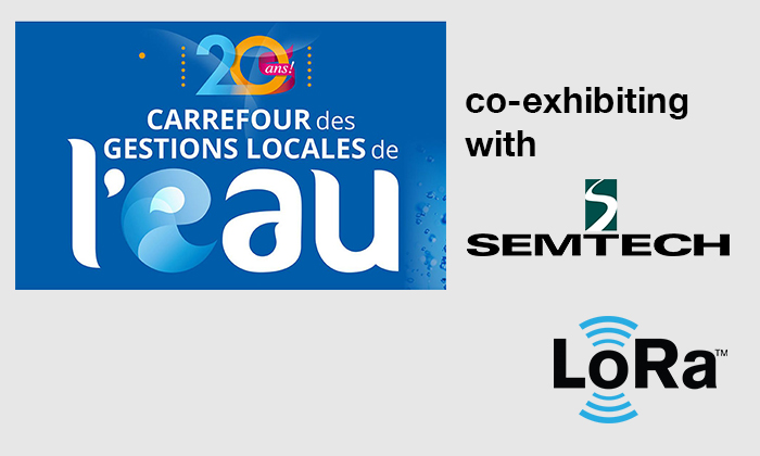 "Vertical M2M exhibits with Semtech at the next french water utility major trade show ""Carrefour de l'eau"", January 29-30, 2020, Rennes, France"