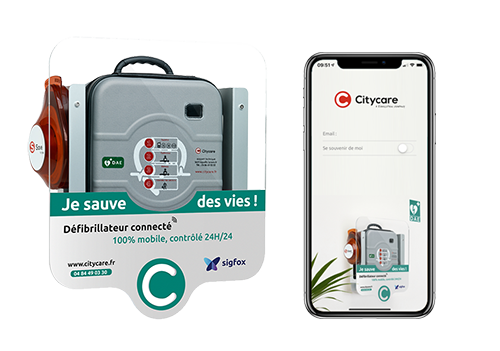 Sigfox connected AED